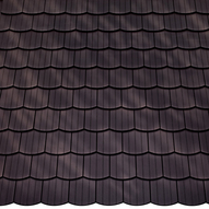 Hohlziegel In Blau-grau-bunt Gut Ausgebildete Dachpfannen Tondachziegel