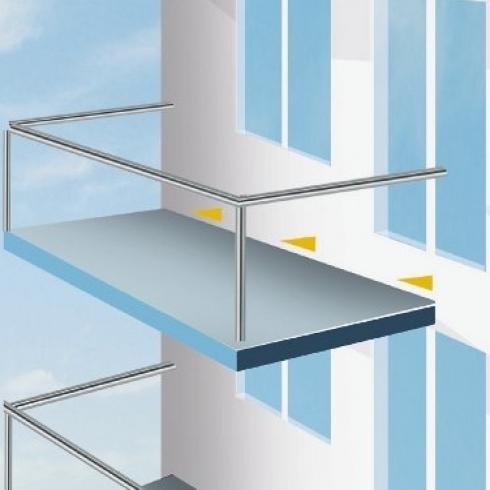 Baumaterialien Zement Wandanschluss Balkon