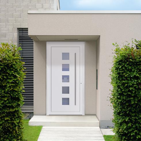 aluminium haust ren der extraklasse f r moderne eingangsbereiche energie fachberater. Black Bedroom Furniture Sets. Home Design Ideas