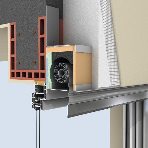 ged mmter rollladenkasten f r schlanke w rmed mm. Black Bedroom Furniture Sets. Home Design Ideas