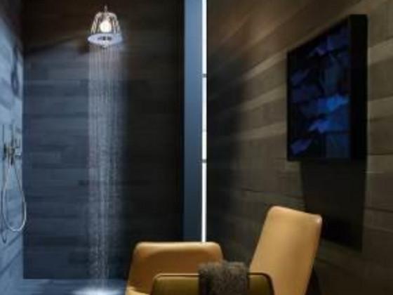 Leuchte ?ber Dusche : Leuchte und Dusche vereint in einem au?ergew?hnlichen Designobjekt