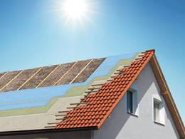 Dach - Isolierung, Dachsparren, Dachziegel